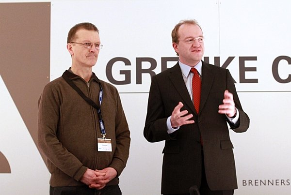 Herbert Bastian (President German Chess Federation) and Sven Noppes (Tournament Director)